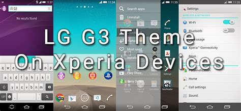 changing themes on lg g3 install lg g3 theme on sony devices running android 4 3