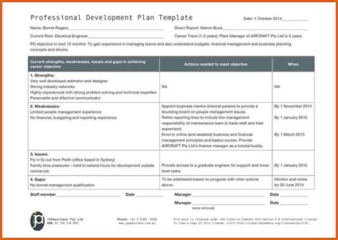 career progression plan template developing people for