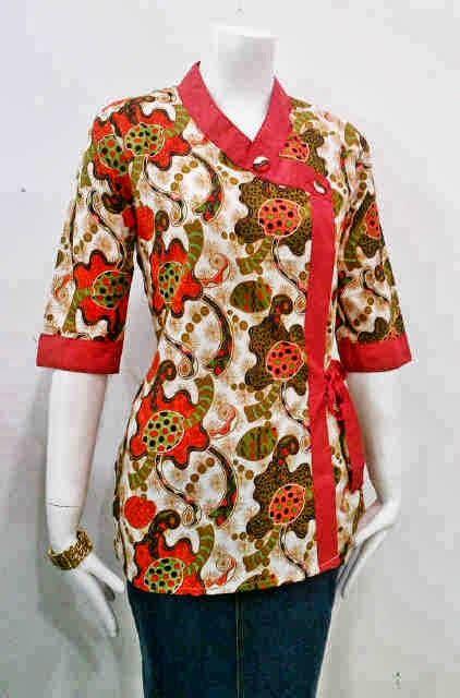 gambar model baju kantor gambar model baju batik untuk kerja