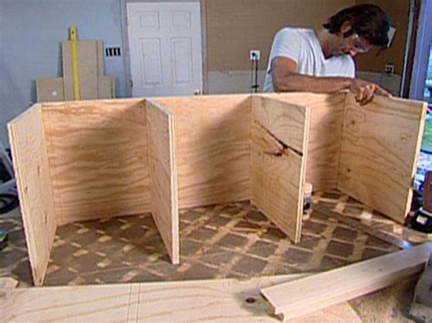 how to make a bench with storage how to build a rolling storage bench hgtv