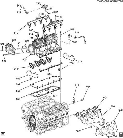 diagram of 5 3 engine asm 5 3l v8 part 5 manifold fuel related parts