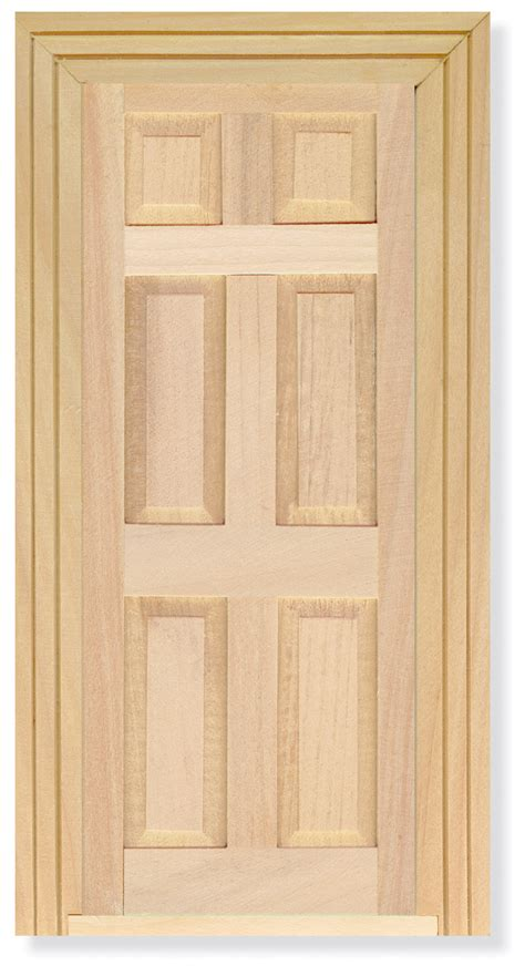 scale dolls house panelled wooden door diy