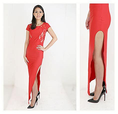 Dress Pesta Brukat Lace Import jual grosir lace maxi dress import bangkok min 2pc