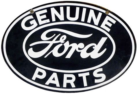 ford logo for sale genuine ford parts porcelain sign