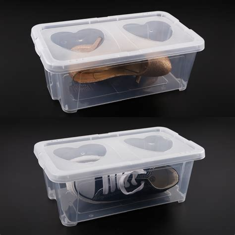 clear plastic shoe storage boxes clear plastic mens shoe storage box stacking
