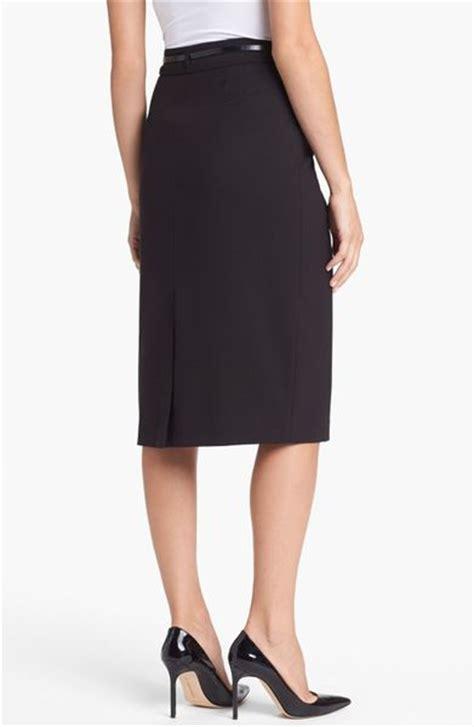 jones new york jacqueline belted column skirt in black lyst