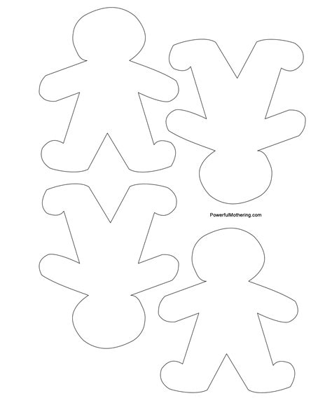 printable christmas decoration templates gingerbread men christmas tree and star printables