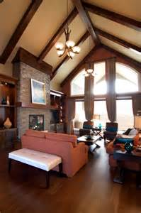 vaulted great room great room in bungalow with vaulted ceiling favorite