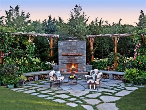 patio fireplace hgtv