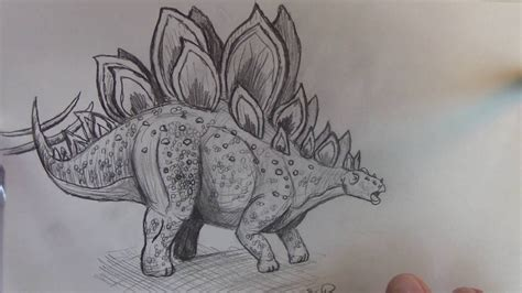 How To Find In The World How To Draw Stegosaurus From Jurassic World Part 1