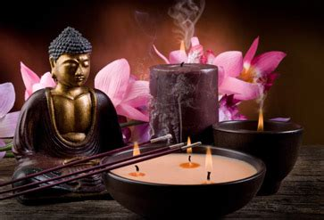 buddha  candle  flowers wallpaper  spa saloon