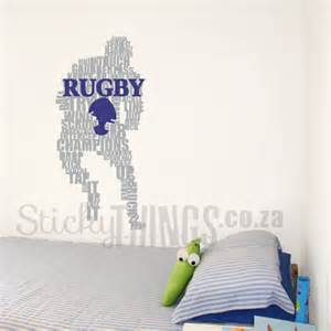 rugby player wall art sticker stickythings wall stickers rugby ball vinyl wall art sticker decal sports hall ebay
