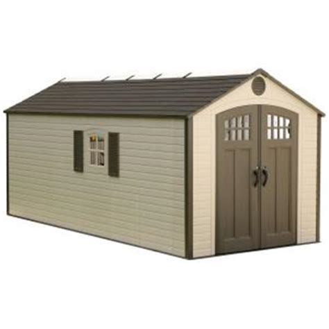 lifetime 8 ft x 17 5 ft plastic storage shed 60121 the
