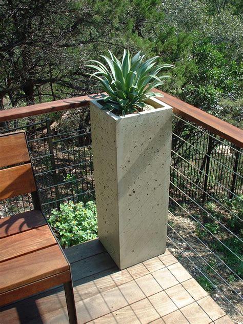 Concrete Patio Planters by Planters Concrete With Outdoor Trends Planter Savwi