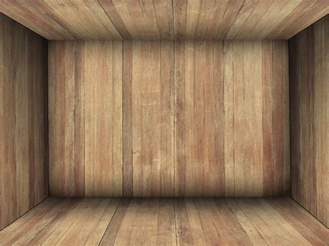 wooden room wooden box room interior background free brick and wall