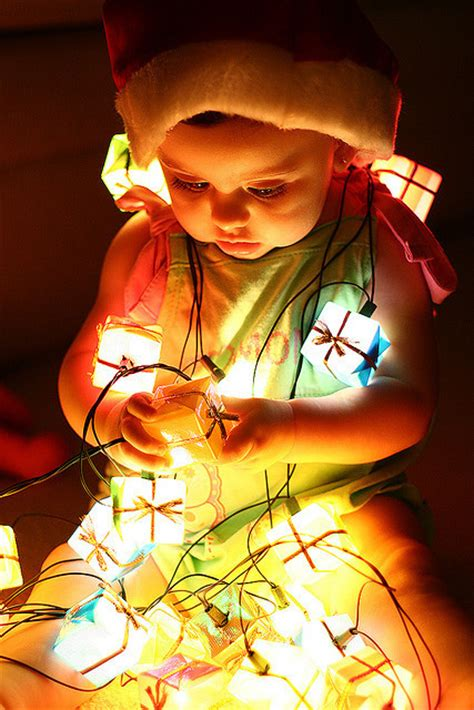 baby christmas christmas lights cute lights image