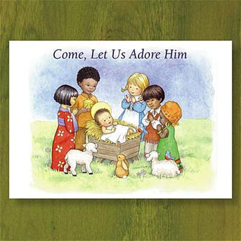 children of the world christian christmas card abbey
