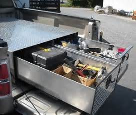 new heavy duty aluminum truck bed 2 drawer storage tool
