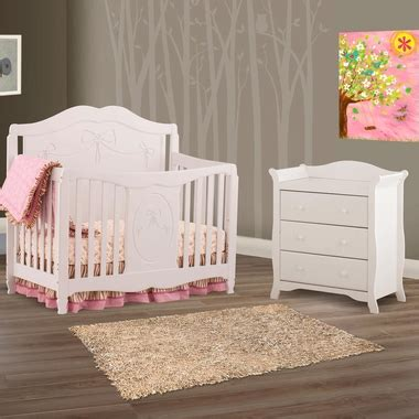 Storkcraft Princess 4 In 1 Fixed Side Convertible Crib White Storkcraft 2 Nursery Set Princess 4 In 1 Fixed Side Convertible Crib And Aspen 3 Drawer