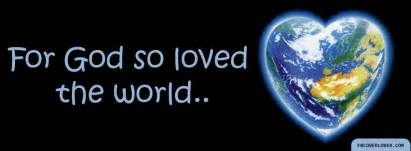 Click below to upload this for god so loved the world cover