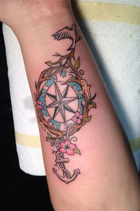 Are Anchors Back shoulder back compass and anchor tattoos for