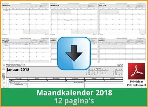 Kalender 2018 Schoolvakanties Belgie Kalenders 2018 Gratis Downloaden En Printen Feestdagen