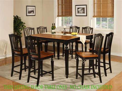 dining room table black details about square dining dinette kitchen counter height