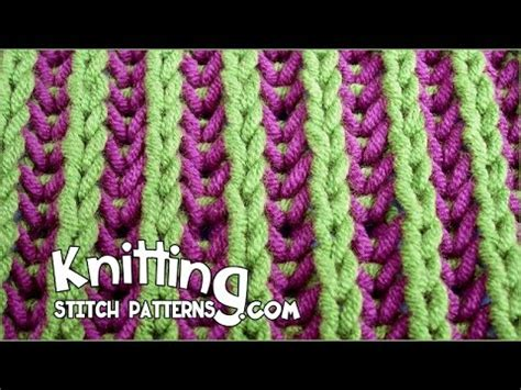 two color knitting in the two color brioche stitch