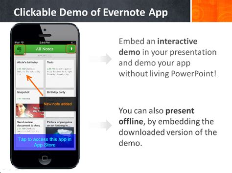 power point mobile appdemostore how to insert a mobile app demo into a