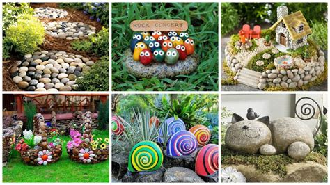 Garden Decor With Stones 19 Impressive Garden Decorations That Everyone Can Make
