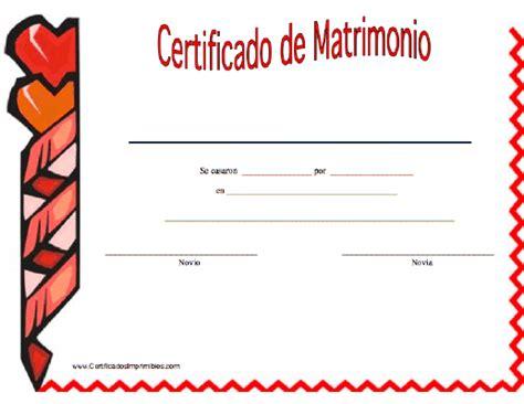 Certificado De Matrimonio Para Kermes   acta de matrimonio kermes imagui