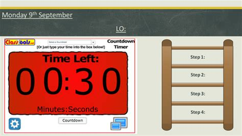 Countdown Timer In Powerpoint From Classtools Net By Kflanagan91 Teaching Resources Tes Countdown Timer For Ppt