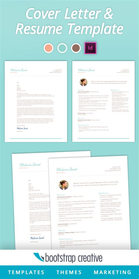 indesign business card template letter resume template indesign feminine resume templates on