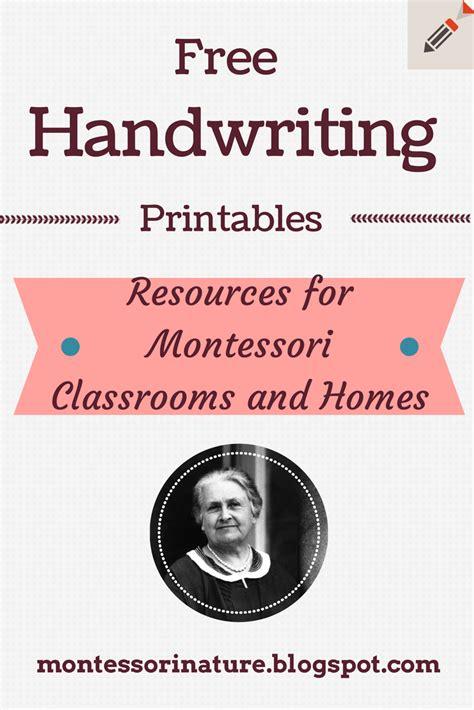 montessori printable free worksheets free handwriting printables montessori nature