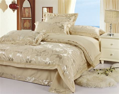 Silver And Gold Bedding Sets Silk Bedding Comforter Quilt Duvet Cover Sets Wine Gold Silver Satin Silk
