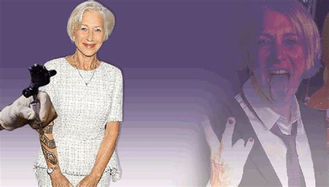 helen mirren tattoo helen mirren wants tattoos because she s getting
