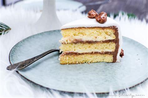 fondant kuchen rezept gebrannte mandel torte mit vanillecreme und fondant