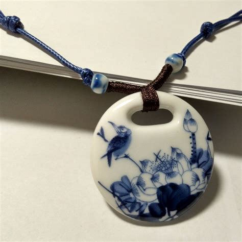 ceramic for jewelry ceramic necklace pendants new fashion vintage handmade