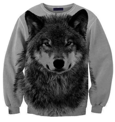Hoodie Bastille With Back Print Jidnie Clothing sweater wolf grey black hoodie animal print