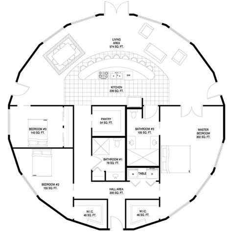 Floor Plans For Round Homes | round house plan yurts pinterest dome homes yurts