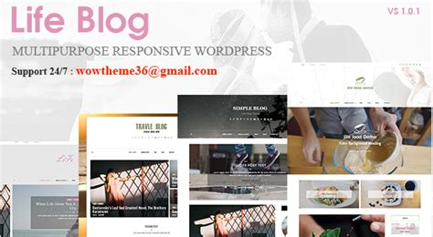 wordpress theme multiple layout lifeblog v1 0 1 multiple layout wordpress blog theme