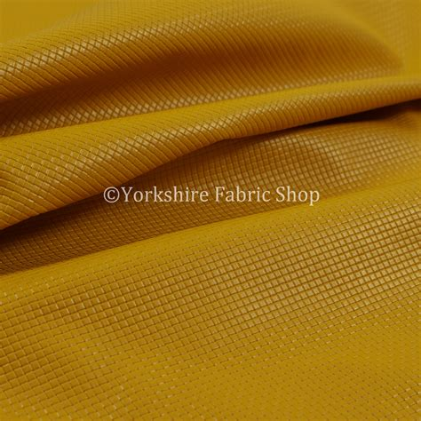 yellow vinyl upholstery fabric lattice quilted textured faux leather yellow vinyl