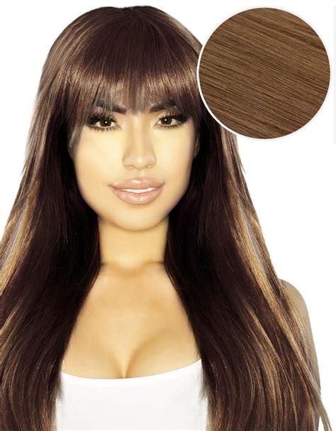 bellami hair 6 in 1 price cleopatra clip in bangs chestnut brown 6 bellami