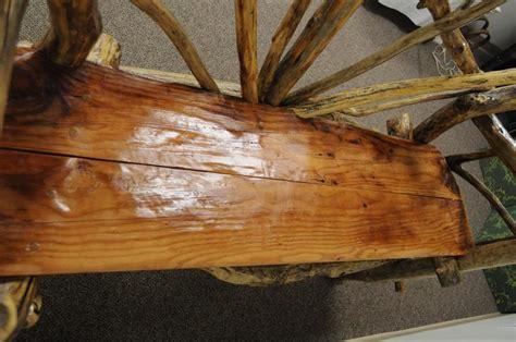tree log bench rustic handmade artisan crafted solid tree log garden