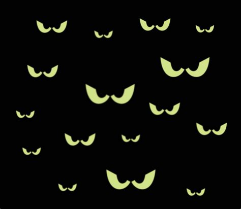 printable halloween spooky eyes 16 spooky eyes glow in the dark removable wall decal free