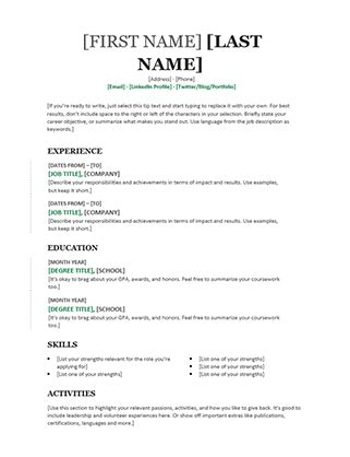 simple resume template singapore resume timeline office templates