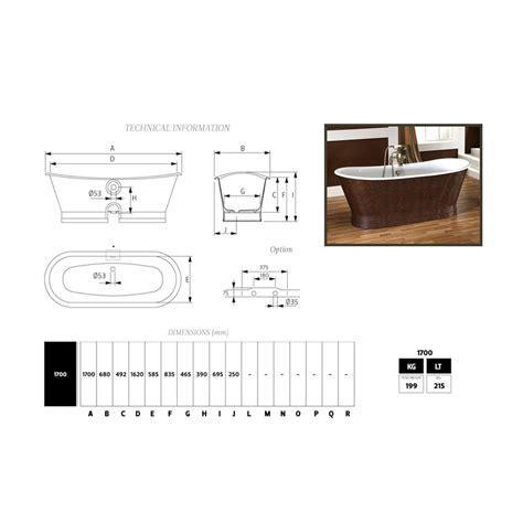 copertura vasca da bagno vasca da bagno in ghisa con copertura esterna in cuoio elsie