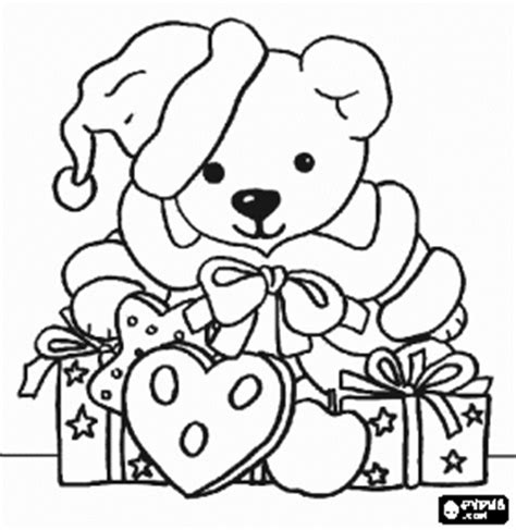 christmas coloring pages teddy bear cute country christmas teddy bear coloring page