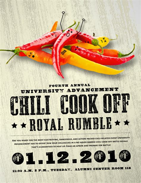 chili cook flyer template chili cook poster flyer layout and pepper