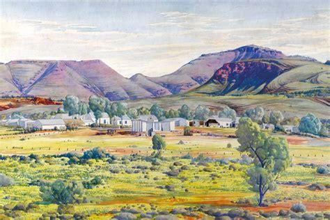 albert namatjira s finke river mission and mount hermannsburg 1951 abc news australian